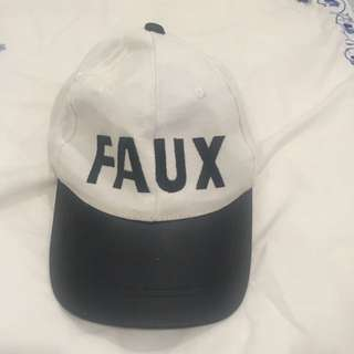 Faux black And White Cap