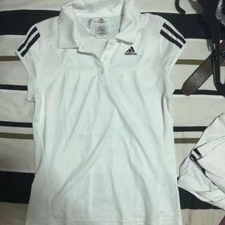 Adidas White Tennis/Golf Shirt