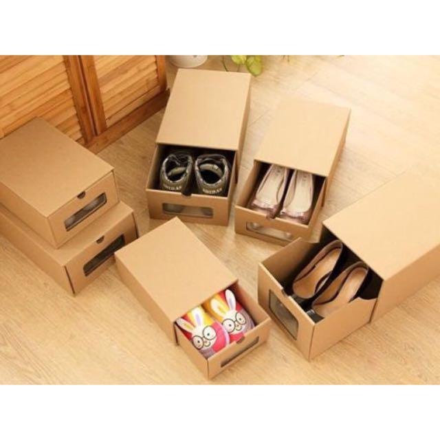 【D1】牛皮紙鞋盒(3入)