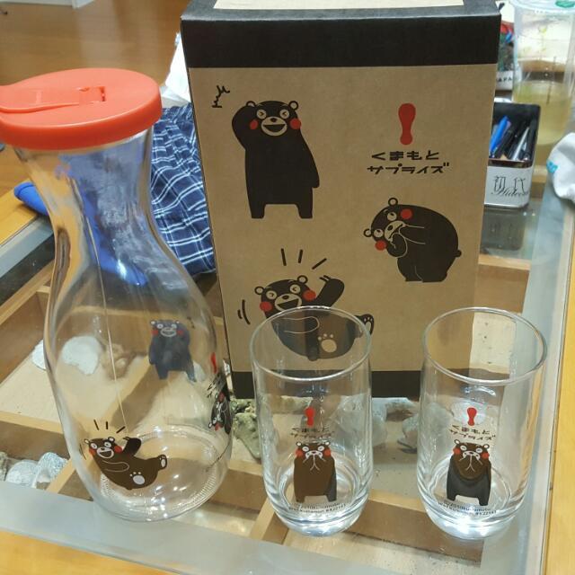"""熊本熊""""玻璃""""水杯組"""