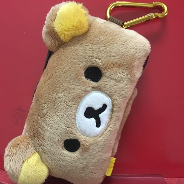拉拉熊手機包 手機套 手機吊掛袋。 吊掛包。 日本帶回