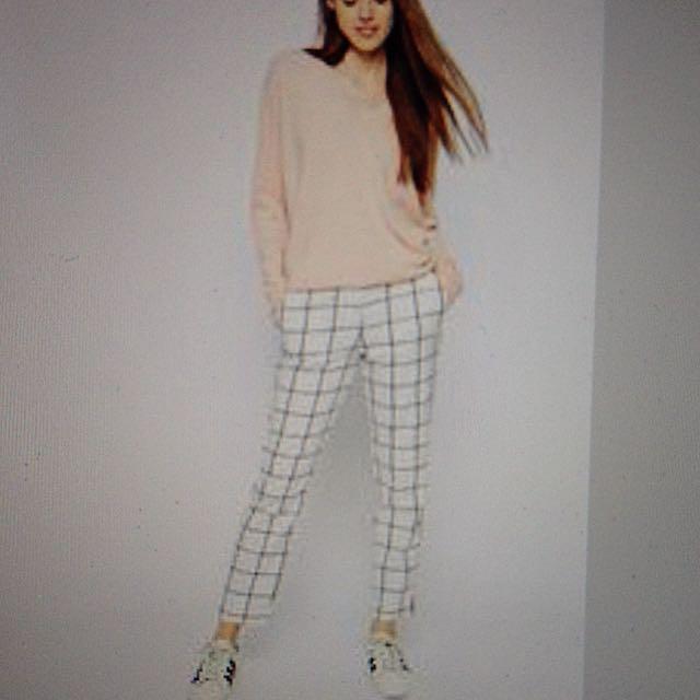 Asos Black And White Checker Pants