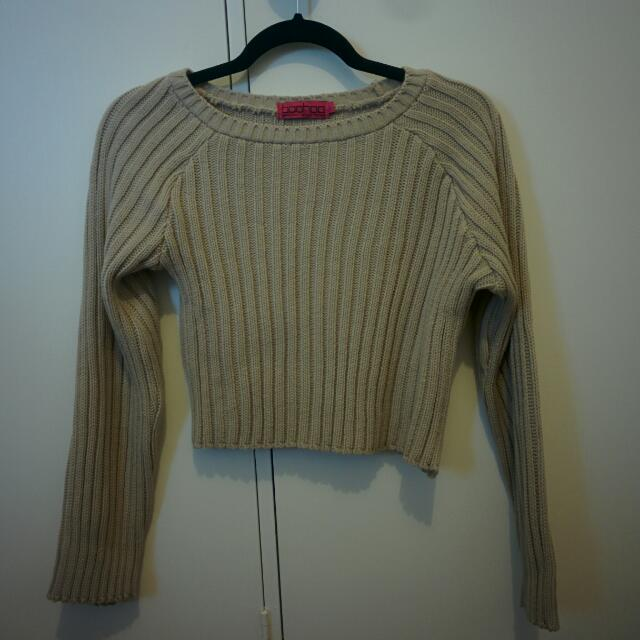 Boohoo Knit Crop Jumper Size S