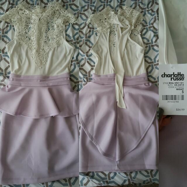 Charlotte Ruse Peplum Lace Dress