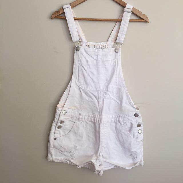 Cotton On White Overalls