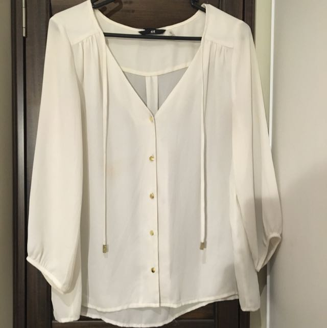Cream Off White Blouse