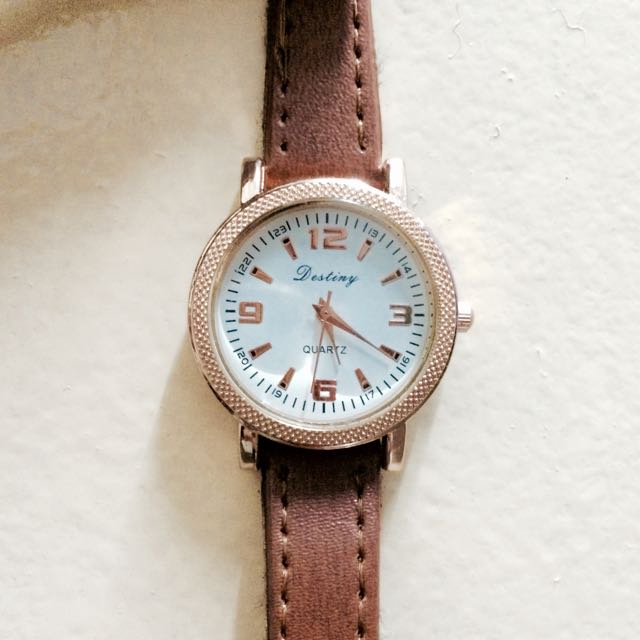 Destiny Analog watch (Brown And Gold)