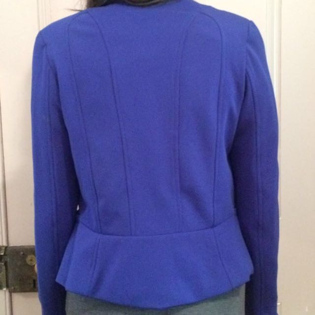 Fitting Professional Jacket Blue And Red