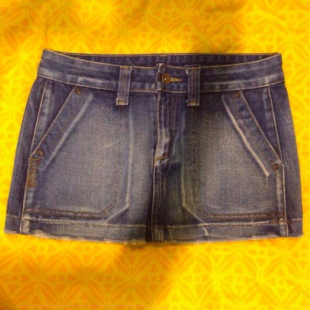 FLESH IMP Jeans Denim Mini Short Skirt
