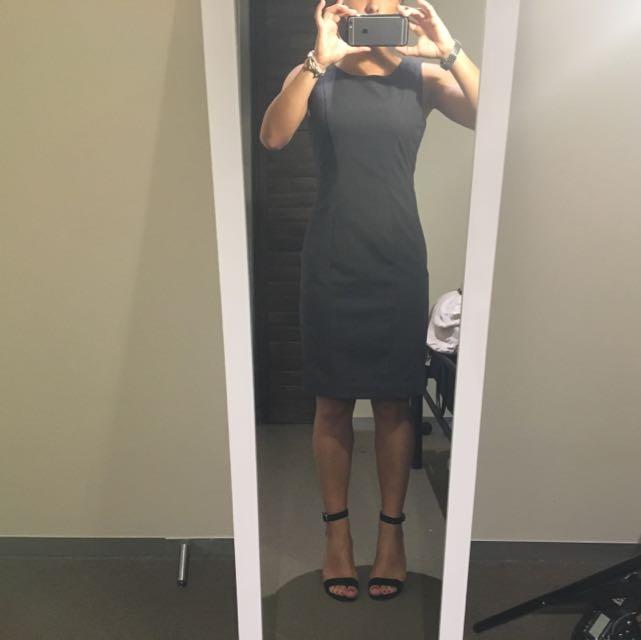 Grey H&M Work Dress