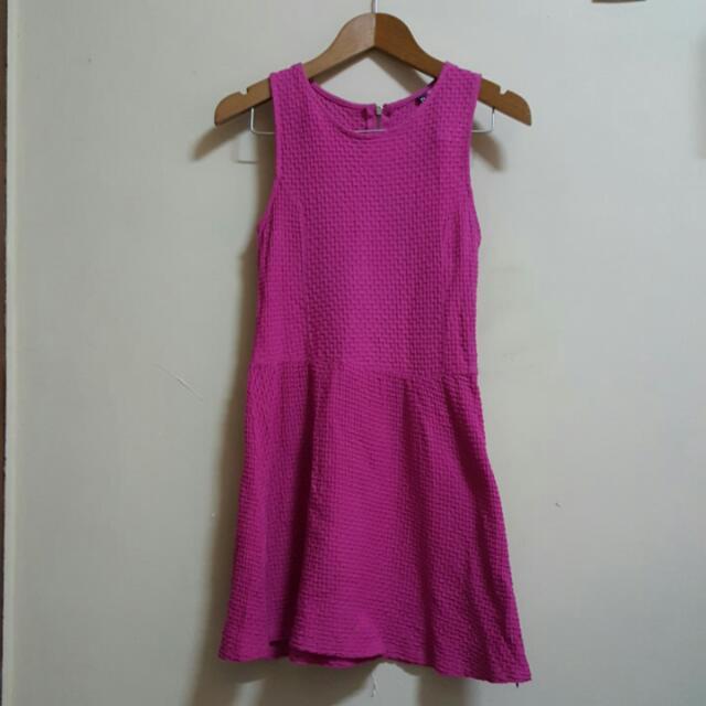 H&M Divided Fuschia Dress