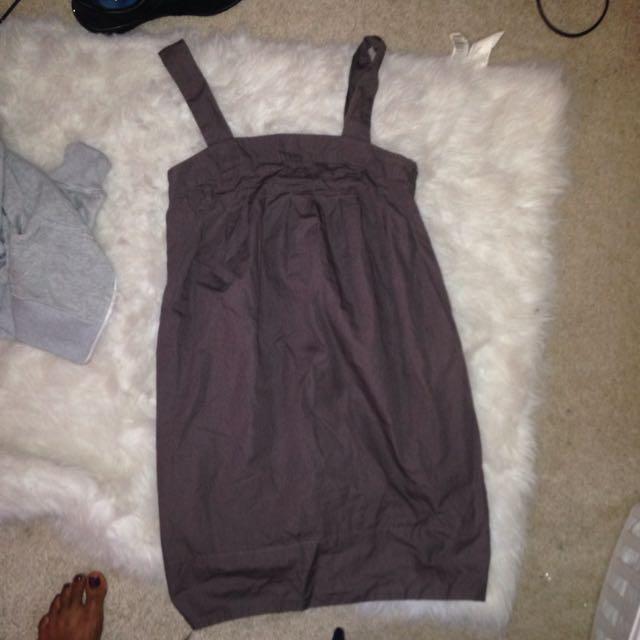H&M Grey Plain Casual Dress