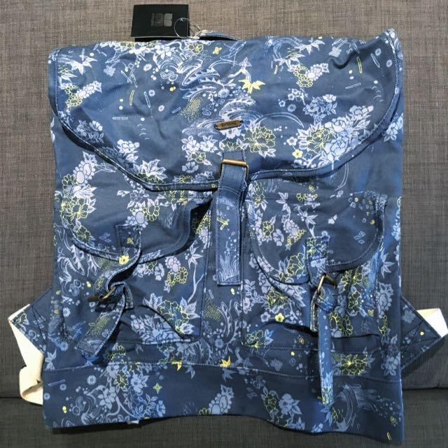 INSIGHT Denim Floral Backpack