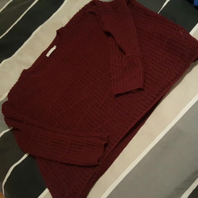 Ladies M/l  Baggy Knit