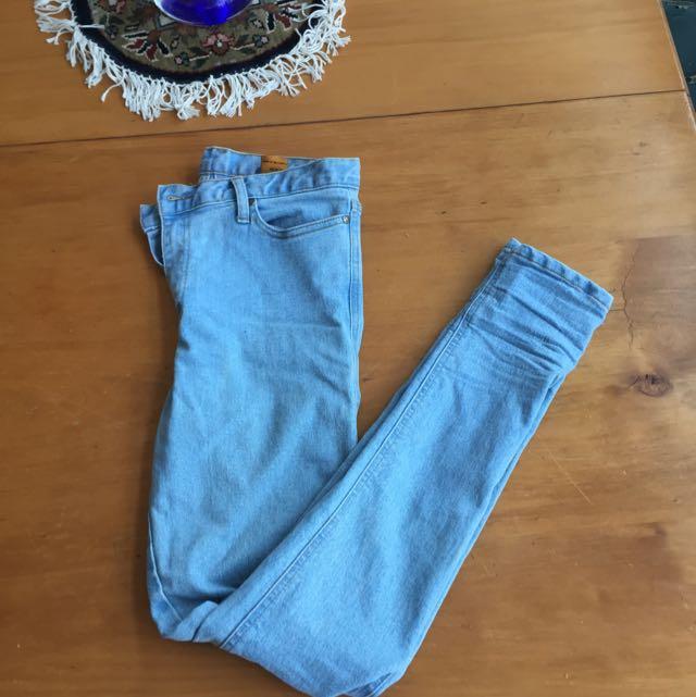 Light Denim Mid Rise Jeans