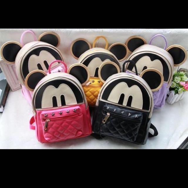 7f3da5a411 Mickey Disney Kids Bag Backpack Children Cartoon nursery Boys Baby ...