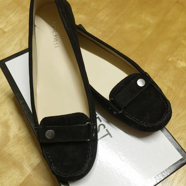 NINE WEST 皮革平底鞋
