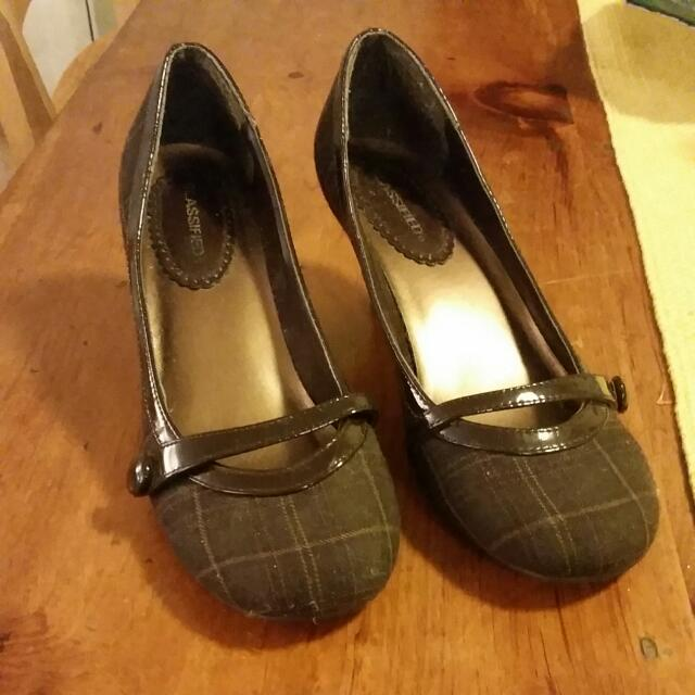 Plaid Kitten Heels 8.5