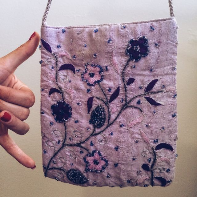 Purple Hand Crafted Side Purse 😍