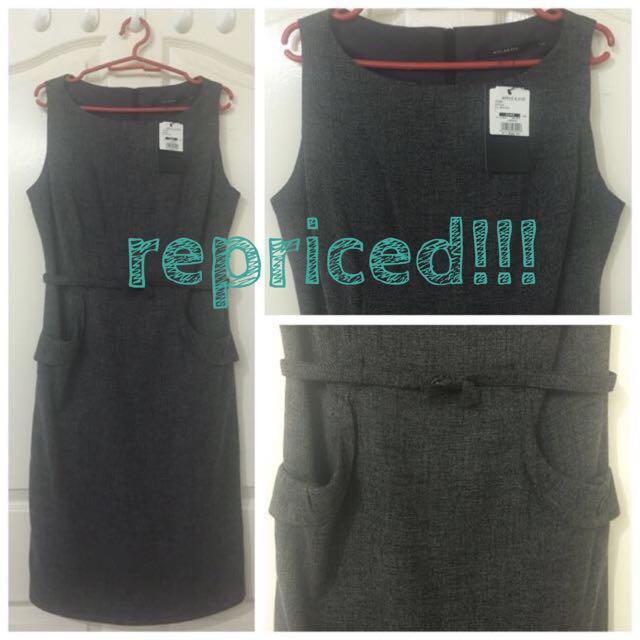 REPRICED! *** Sheath dark gray dress (Apple & Eve)