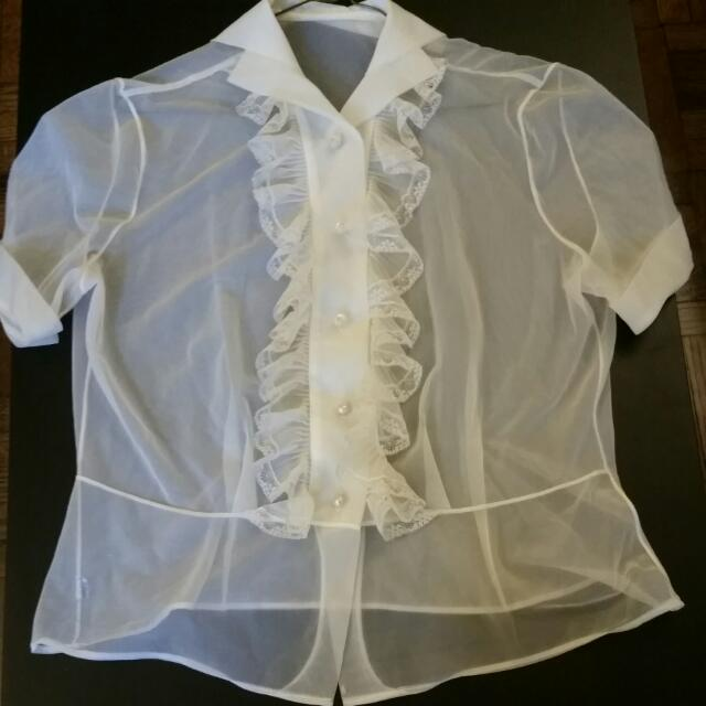 Sheer Vintage Blouse
