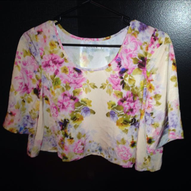 Size 12 Envious Flutter Sleeve Crop