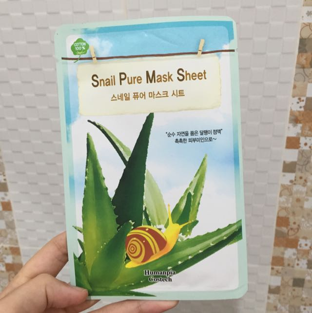 Snail Pure Mask Sheet from South Korea