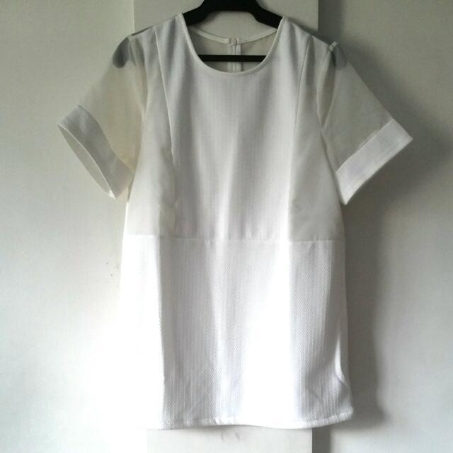 Something Borrowed White Shift Dress