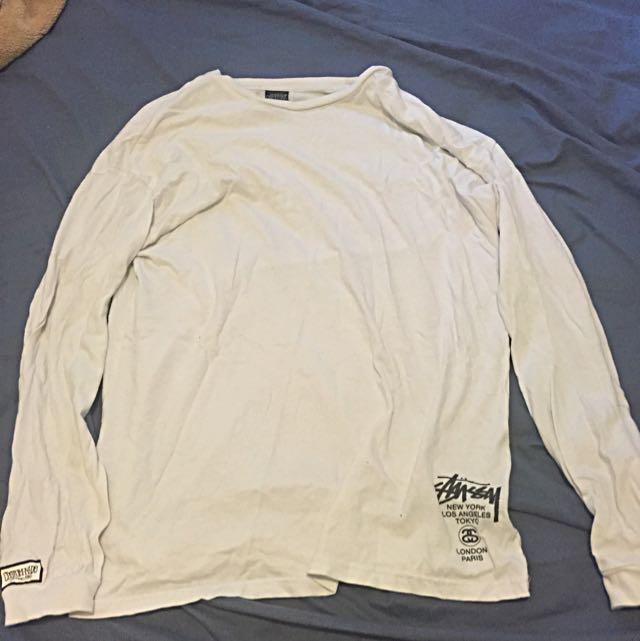 Stussy Custom Made White Lone Sleeve