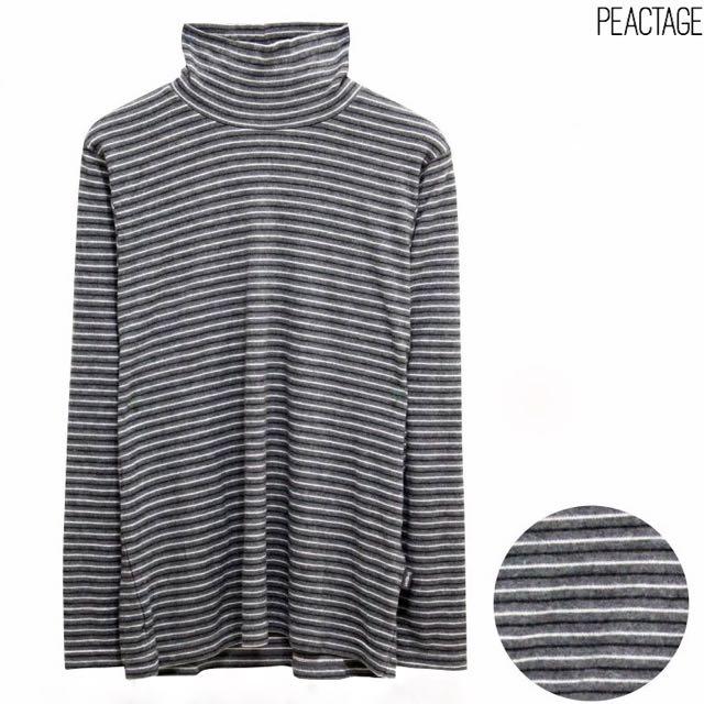 Turtleneck Grey Stripes