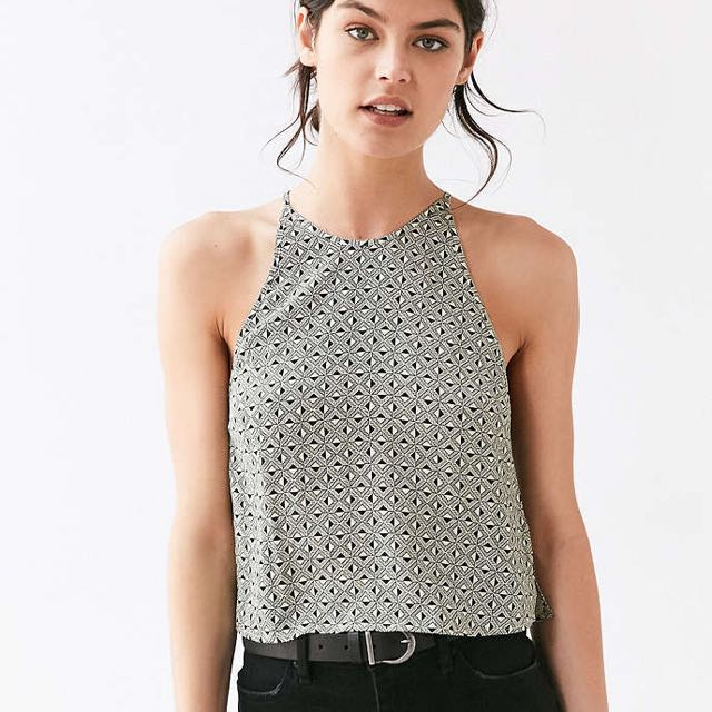 Urban Outfitters Printed High-Neck Tank Top