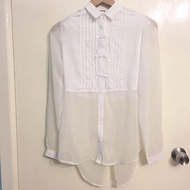 White Blouse- Size S