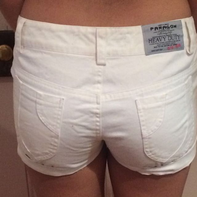 White Paragon Industry Shorts Fitting