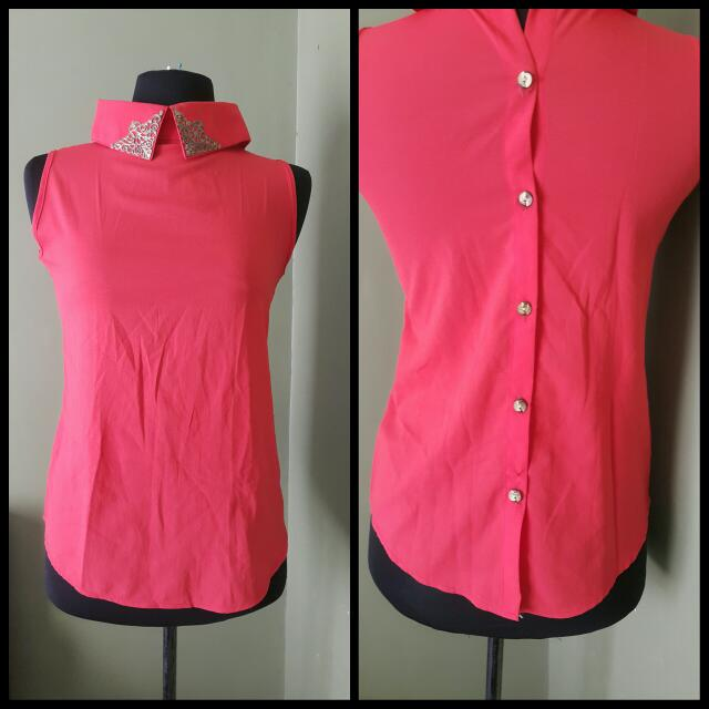 Willow Clothing Top.size S. Color Orange.