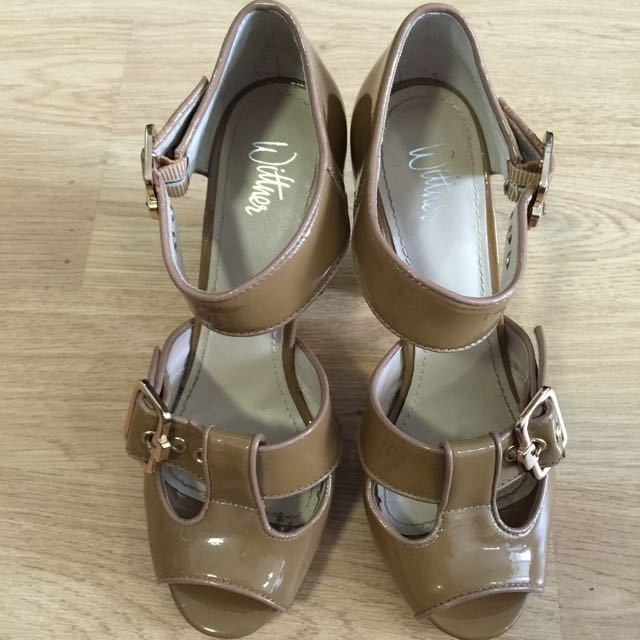 Wittner Shoes Size 37 Colour Nude Tan