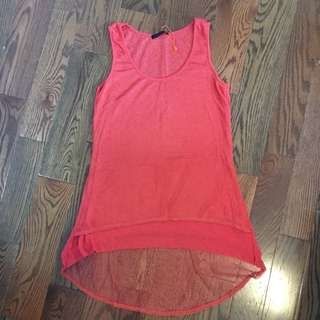Orange Multi Layered High-low Tank