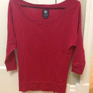 Loose Red Shirt From American Eagle