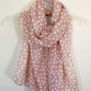 Peach Spotted Scarf