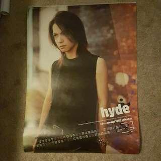 L'Arc~en~Ciel hyde 2005 Calendar Poster