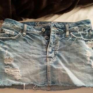 American Eagle Distressed Skirt