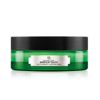 The Body Shop Drop Of Youth Bouncy Sleeping Mask / Night Cream