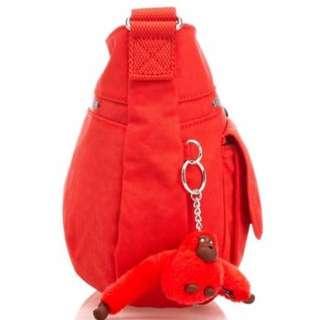 Kipling Syro Ketchup Red Bag Handbag