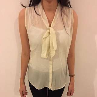 Forever21 Loose Top Soft Yellow