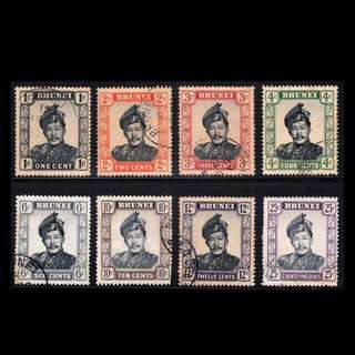 Stamps Brunei 1952 Sultan Omar Ali Saifuddin Used Lot