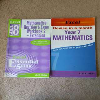 Excel Math Revision Workbooks Year 7 & 8