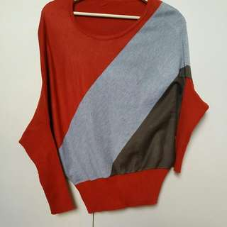 Retro-Vintage Tri-coloured Shirt With Unique Sleeves