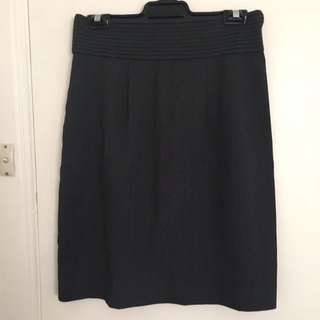 Basque Pencil Skirt