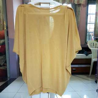Yellow Batwing Loose Top