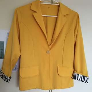 Bright Yellow Office Coat