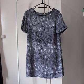 Don't Ask Amanda Palm Tree Shift Dress Sz S